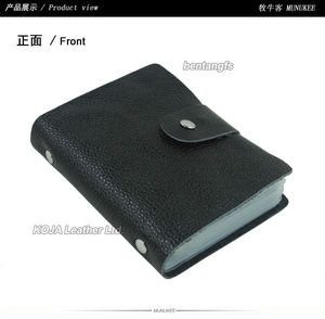 Image 3 - 100% Genuine Leather Credit Card Holder Men Card ID Holder Case Women Business Card Holder Large capacity with 60 Slots MC 902