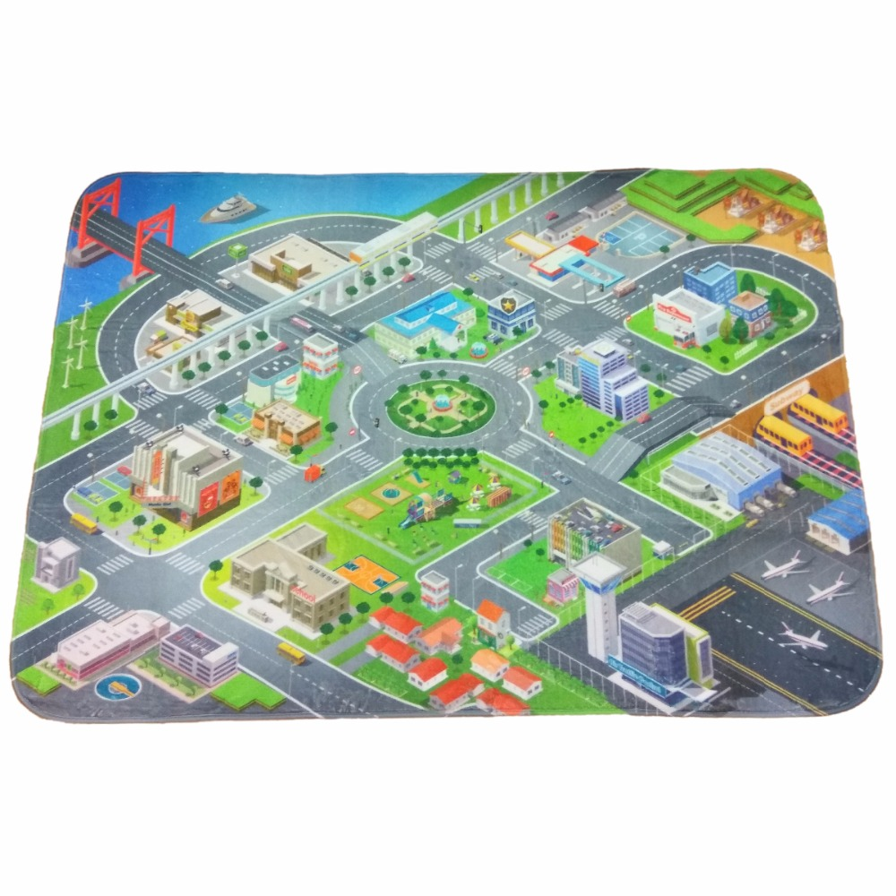 Children's ultra-soft play mat City 180 * 130cm sero-green blueTeplo kid TK-US-01