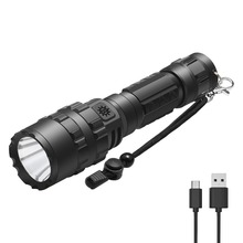 PANYUE 2 Packs USB Rechargable Flashlight 1000 Lumens LED XM-L2 Torch Flash Light Lamp Lighting With Charger Cable