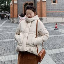 PinkyIsBlack 2019 Winter Jacket Women Short Parkas Thicken Outerwear Solid Hooded Coats Cotton Padded Female