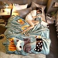 JaneYULarge cartoon Rachel blanket pillowtop student coral velvet sheets double Farley duvet covers blanket covers