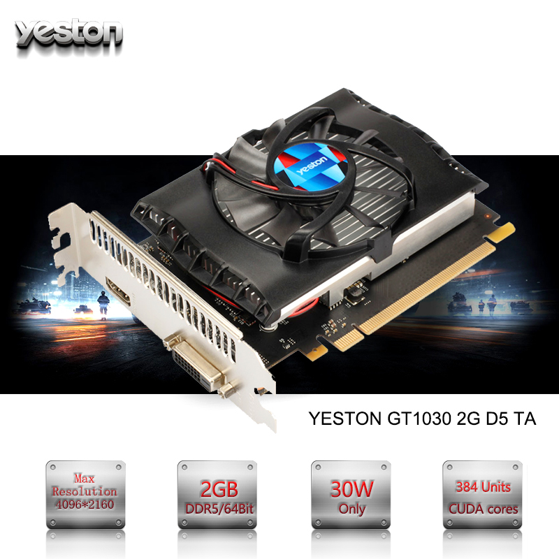 Yeston NVIDIA GeForce GTX 1030 GPU 2GB GDDR5 64 bit Gaming Desktop computer PC Video Graphics Cards support PCI-E X16 3.0 yeston nvidia geforce gt 730 gpu 2gb