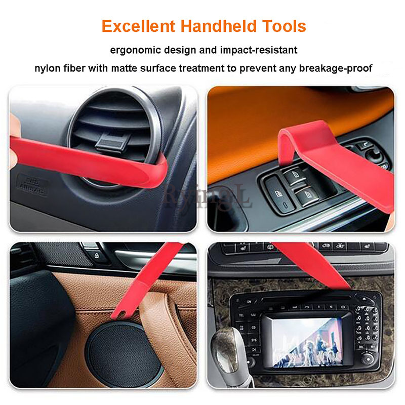 14pcs Pry Disassembly Tool Interior Door Clip Panel Trim Dashboard Removal Tool Auto Car Opening Repair Tool Hand Tool Kit
