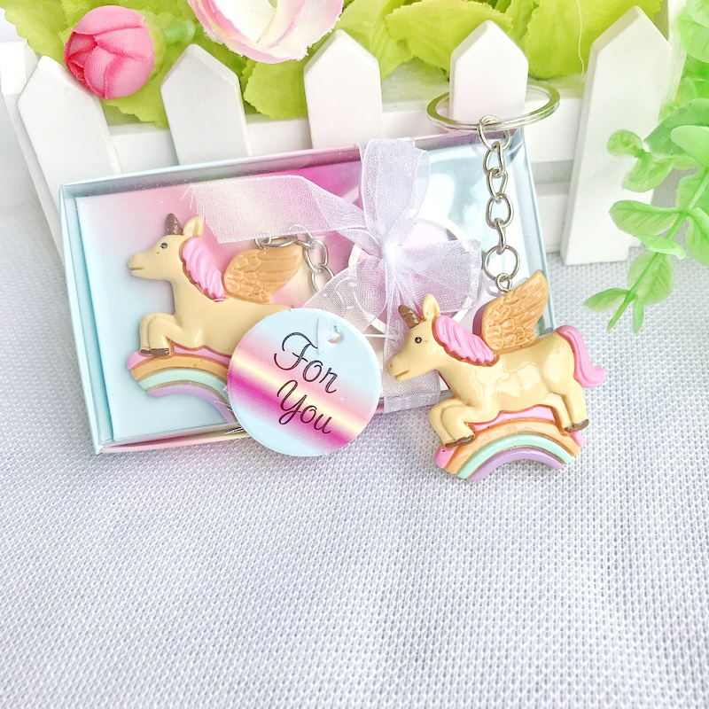Online Shop FREE SHIPPING 10pcs/Lot Baby Birthday Party Giveaway Colorful Unicorn Key Chain Newborn Baptism Baby Christening Souvenir | Aliexpress Mobile