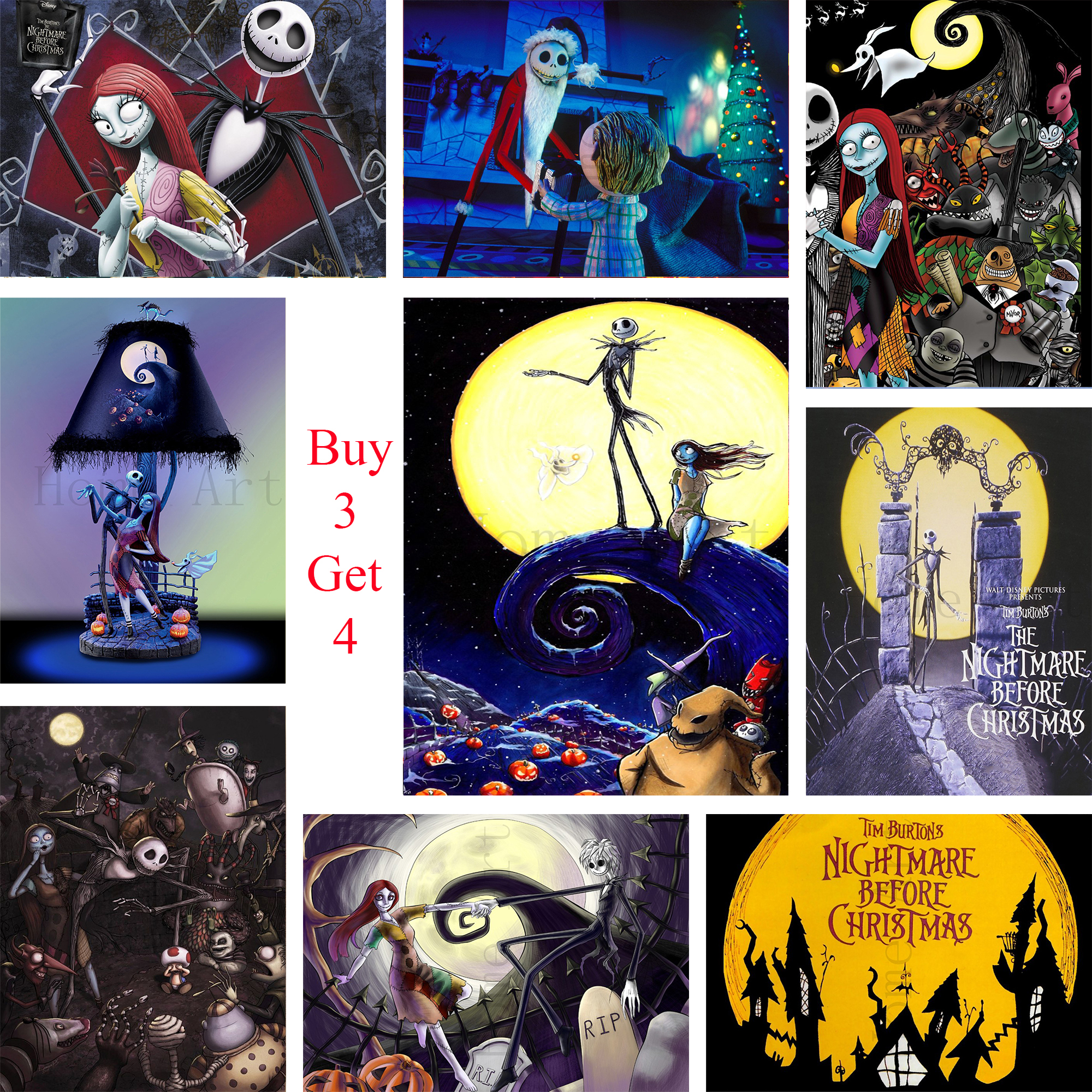 The Nightmare Before Christmas Poster Clear Image Wall Stickers Home ...
