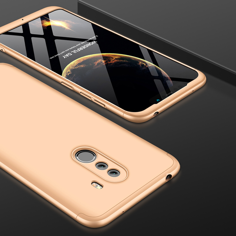 For Xiaomi Pocophone F1 Luxury 3-IN-1 Case 360 Degree Full Shockproof Frosted Shield Hard Back Cover Case For Xiaomi PocophoneF1 (3)