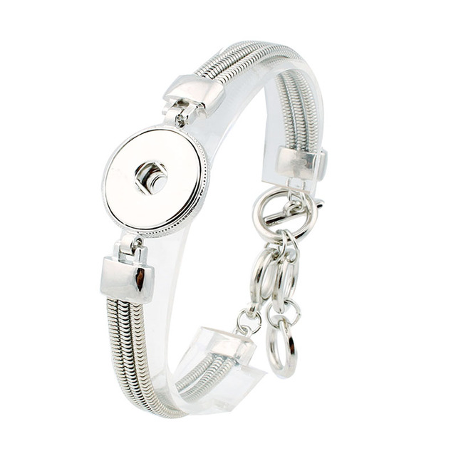 Hot Snap BraceletBangles Newest Design Antique Silver Plated