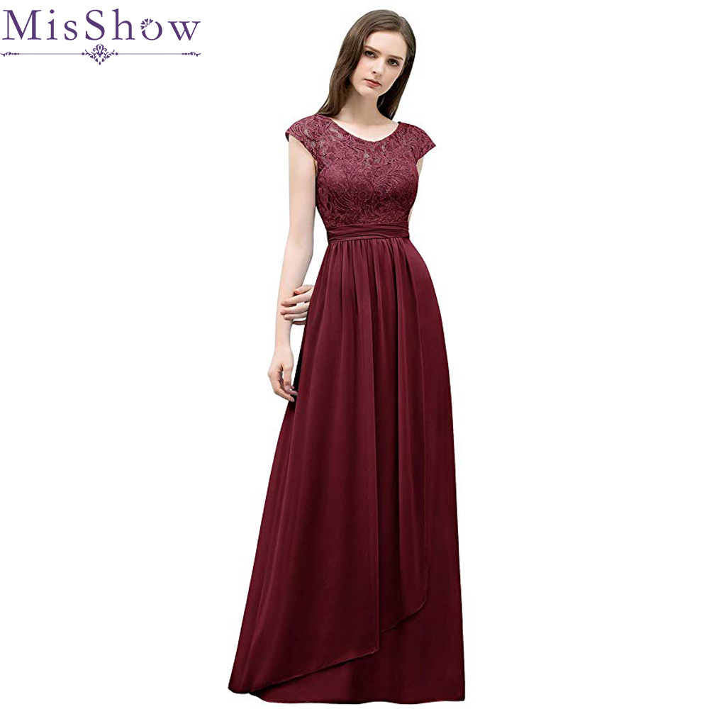 New Women Ladies Cap Sleeve Lace Chiffon   Bridesmaid     Dress   Long Party Pageant Wedding Bridal Formal Maxi Prom Gown Princess   Dress