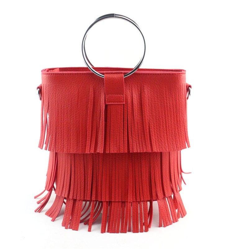 NEW DESIGN 2017 Hot Sale Women Fashion Tassel Handbag Shoulder Bag Large Tote Ladies Female PU Leather Bags Sac Bolsa A8