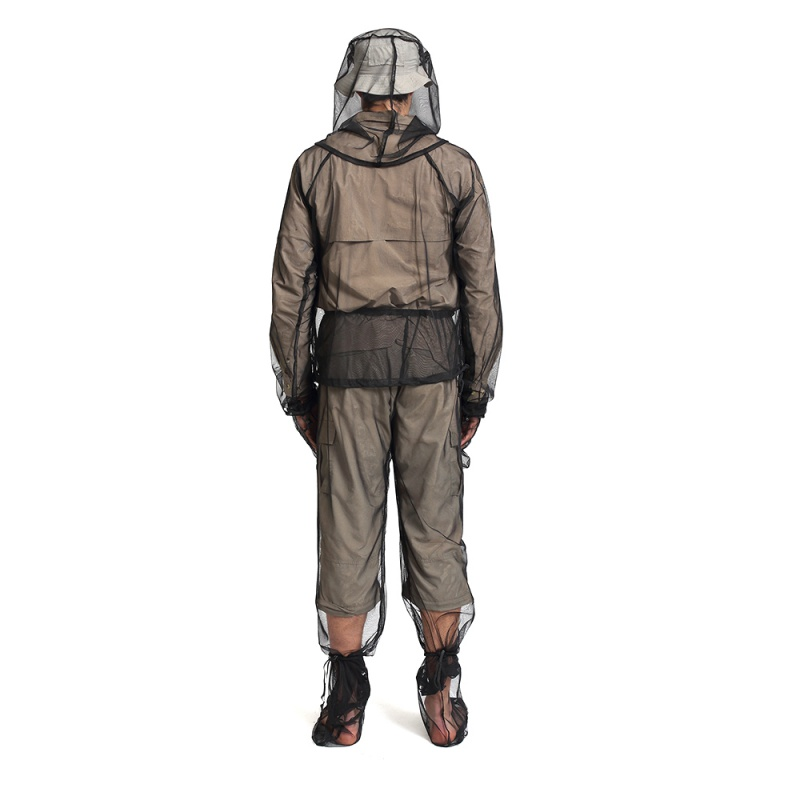 Hot!! Fishing Clothing Jungle Camping Adventure Mosquito Wear Set Summer Anti-Bite Breathable Mosquito Wear 4-piece Set  Rn