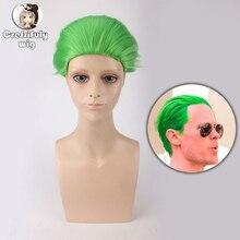Suicide Squad Batman The Joker Verde Parrucca Cosplay del Costume Corto  Sintetico Capelli Del Partito di a0bd0841b29b