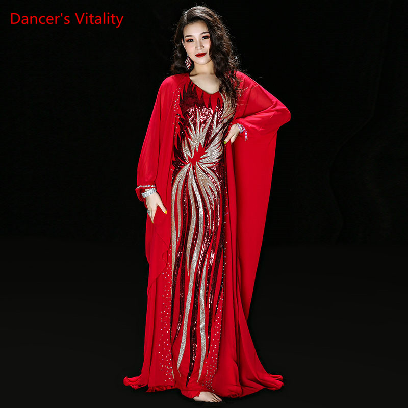 Image 3 - New Modal+Chiffon Practice Wear Set Women Belly Dance Costume Holiday Style Dance Skirt Belly Dance Competition Robe-in Belly Dancing from Novelty & Special Use