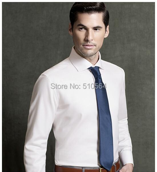 Новый стиль На Заказ мужчины в разрезе воротника Frech площади белая рубашка 100% Хлопок рубашка деловой случай мужчин slim Fit рубашка