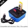 Puerto HUB USB 2.0 Micro SD TF Tarjeta de memoria Extendida M2 Lector de Tarjetas de Alta Velocidad Con Cable Multifuncional Con Luz de Fondo Combo