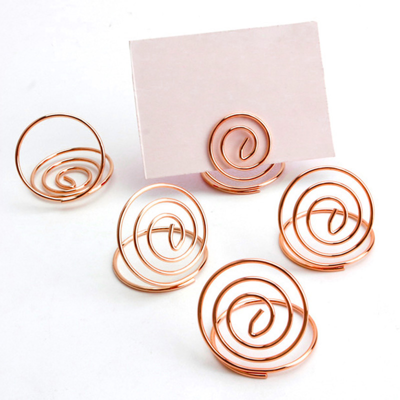 Clips Office & School Supplies 24 Pcs Table Number Holders Ring Shape Card Holder Circle Stereo Note Pad Menu Clips