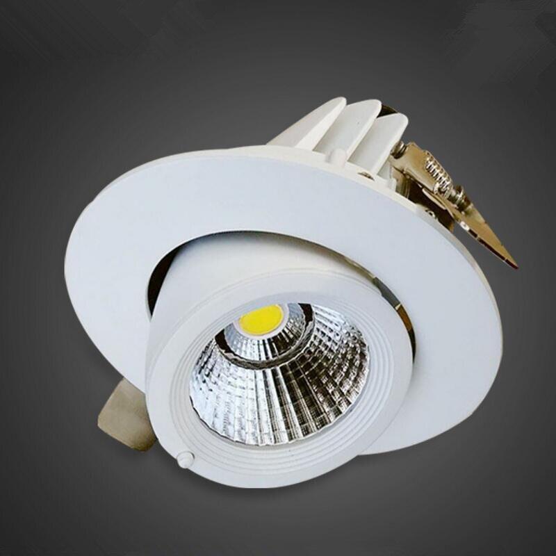 LED trunk light 110V 220V 230V 240V LED gimbal light 15W COB LED gimble lamp rotatable led downlight Adjustable Indoor Lighting in Downlights from Lights Lighting
