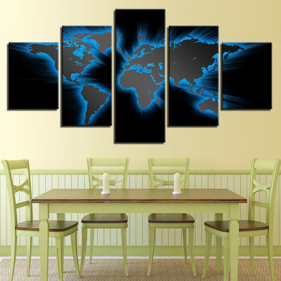 Modular Canvas Wall Art HD Prints Pictures 5 Pieces Abstract Light ...
