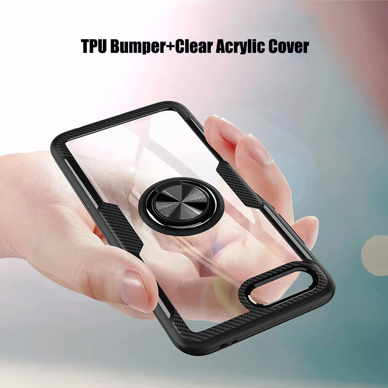 HTB1im3gXZrrK1RjSspaq6AREXXa2 Finger Ring Kickstand Case for Huawei Honor 10 7X Play TPU Bumper Car Magnetic Acrylic Case PC Hard Cover for Honor 7X 10 Coque