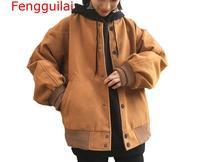 Women Coat 2019 Autumn Winter Jacket Women Fashion Loose Bat Sleeves Jacket Women Solid Color Single breasted Jacket