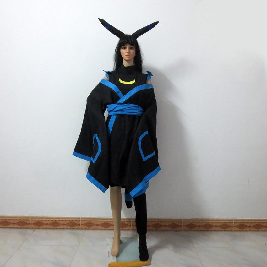 Pokemon Umbreon Human Cosplay Costume Include Headdress ...