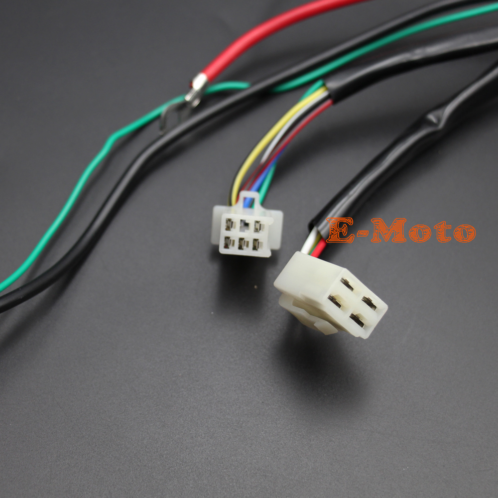 electric start wiring harness loom 50cc 110cc 125cc pit quad dirt bike atv buggy new e moto in motorbike ingition from automobiles motorcycles on  [ 1000 x 1000 Pixel ]