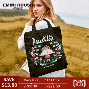 e758079545da EMINI HOUSE Embroidery Reusable Shopping Bag Foldable Tote Bag For Women  2018 Handbag Roomy Nylon Waterproof Bag Fashion design