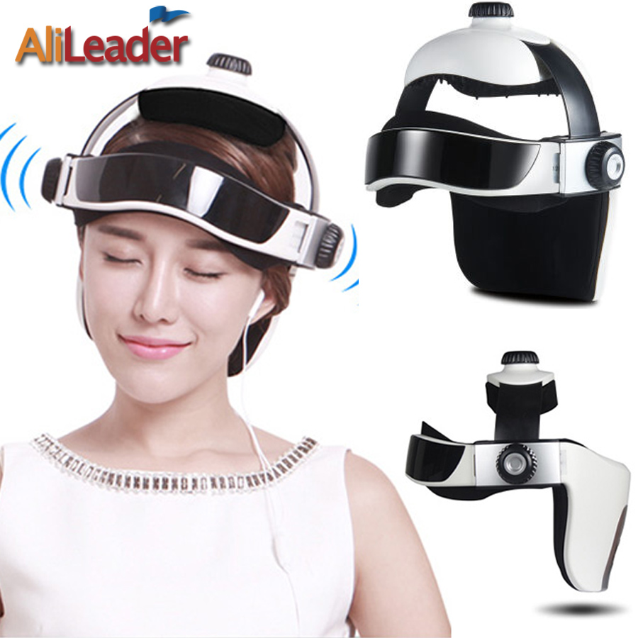 AliLeader Vibrating Head Massager Music Device Electric Head And Scalp Massager Brain Massage Improves Sleep Head Air Pressing vibrating head massager music electric head and scalp massager brain massage improves sleep body vibration machine massage