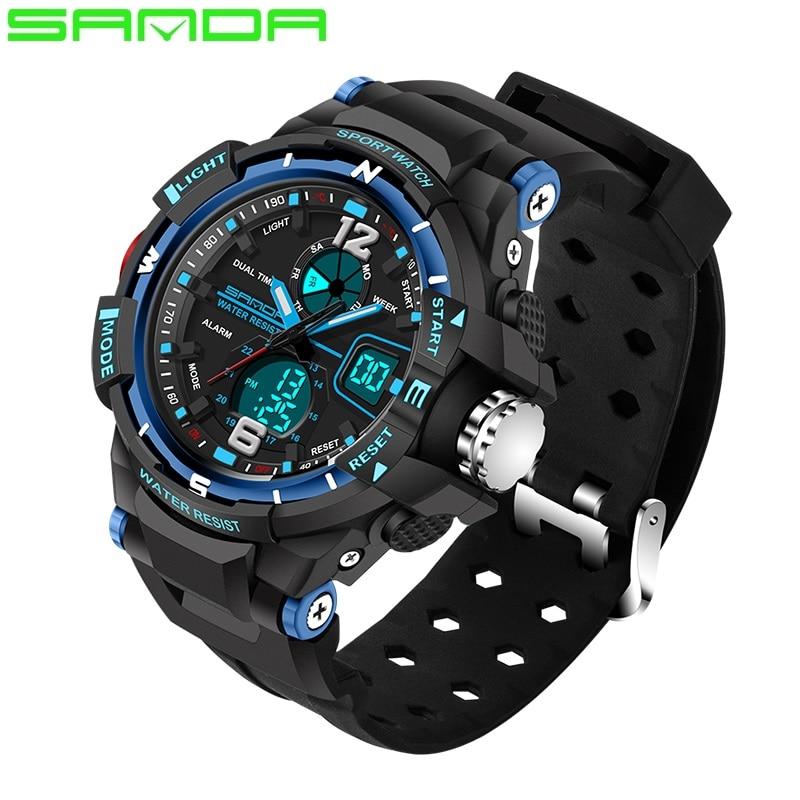 2018 SANDA Brand Man Military Sport Watch Men <font><b>XFCS</b></font> Waterproof <font><b>LED</b></font> Digital Watch Male Watches Clock Hodinky Relogio Masculino