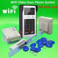 Android iso приложение WI-FI видео-телефон двери RFID клавиатуры дверной звонок Длинные Тип нет электрическая система блокировки забастовку Wi-Fi двер...