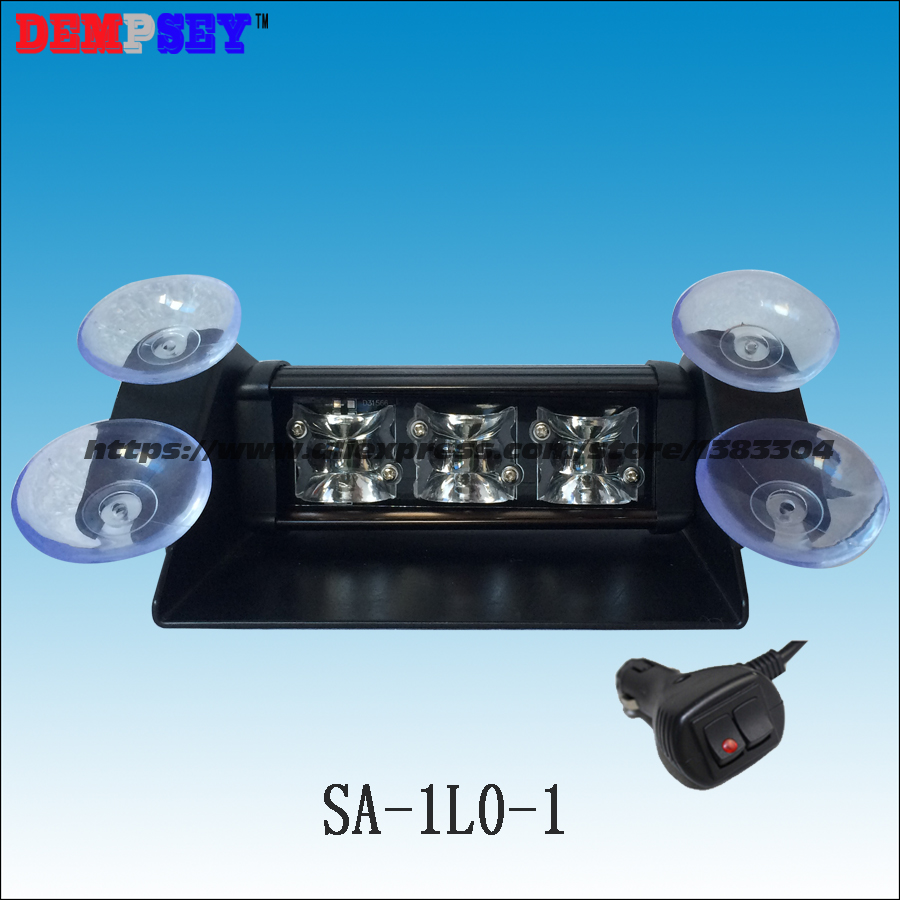 SA-1L0-1 High Power 9W Car Emergency Warning Lightbar Strobe Split Mount Deck Dash Flashing Light/10-30V Emergency Strobe Light