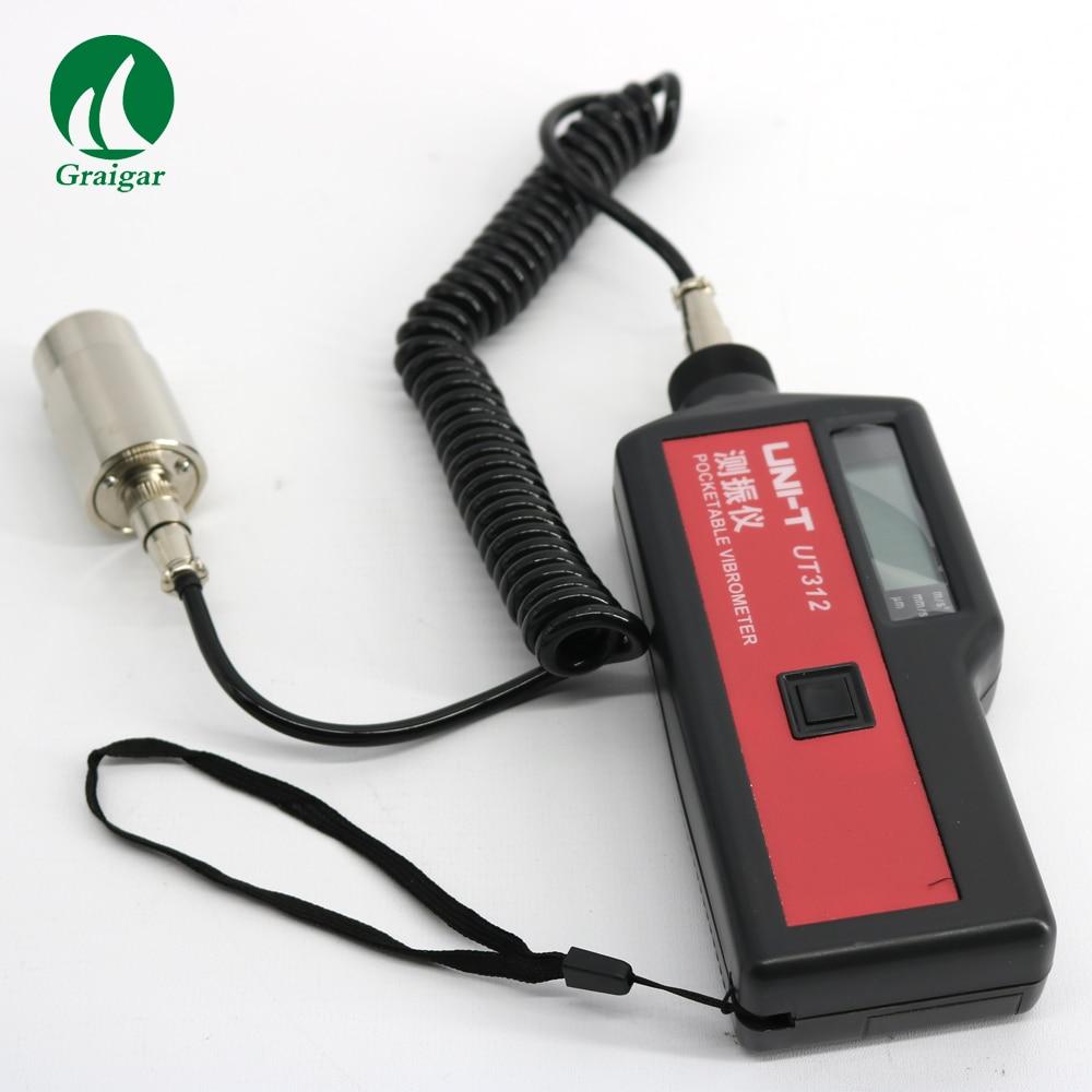<font><b>UNI-T</b></font> UT312 Portable Lcd <font><b>Vibration</b></font> Analyzer <font><b>Tester</b></font> Meter Vibrometer with Split Sensor Signal Wire & Sensor