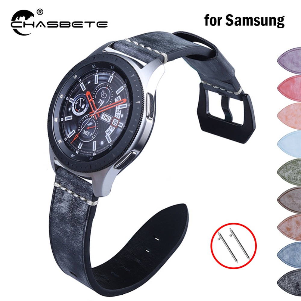 Compatible <font><b>Samsung</b></font> <font><b>S3</b></font> Bands White fog wax oil wax <font><b>skin</b></font> 22mm for <font><b>Samsung</b></font> Galaxy Watch 46mm SM-R800 Quick Release Band Wrist Strap image
