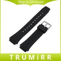 Силиконовые резиновый ремешок для часов для EF 550 552 часы наручные ремешок Спорт Смола Ремень Нержавеющаясталь Пряжка браслет черный