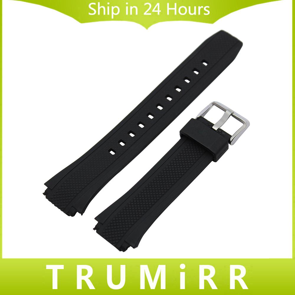 Prix pour Caoutchouc Bracelet En Silicone pour Casio Édifice EF 550 552 Montre Bracelet Bande Sport Ceinture En Acier Inoxydable Boucle Bracelet Noir