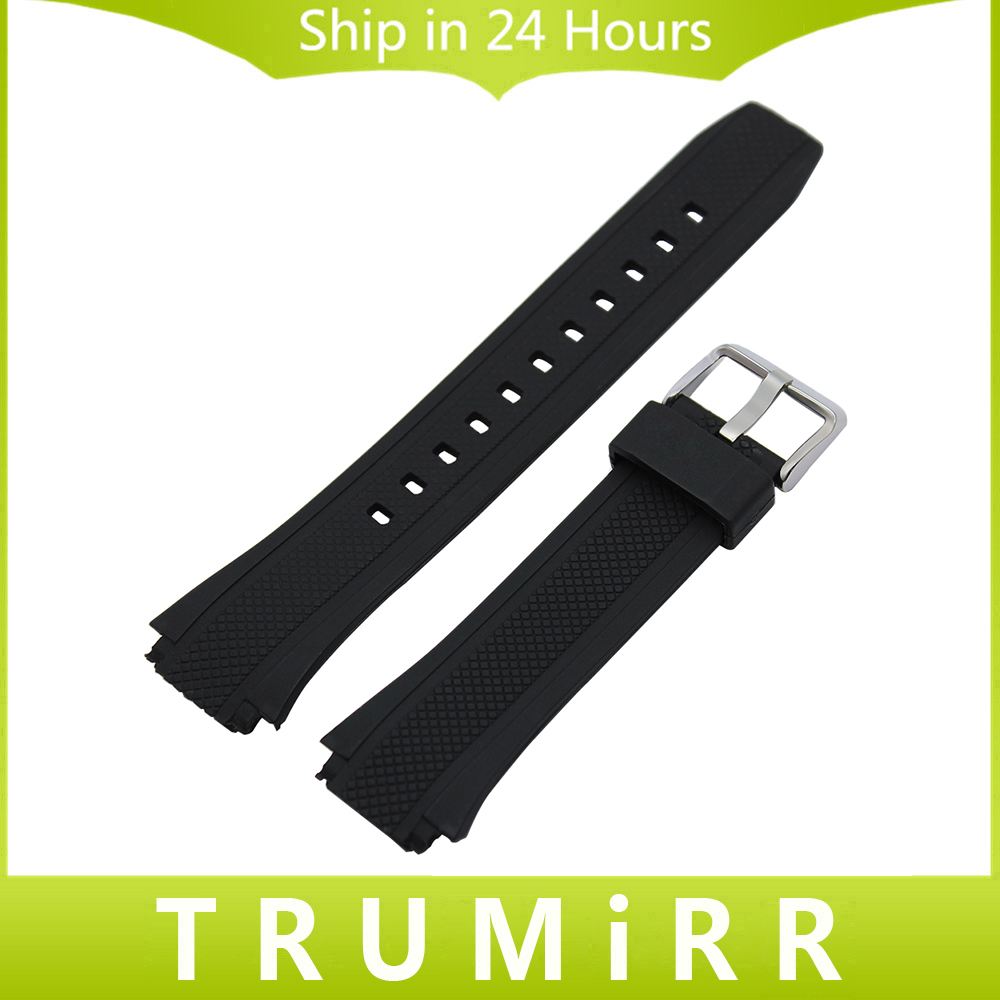Silicone Rubber Watchband for EF 550 552 Watch Band Wrist Strap Sport Resin Belt Stainless Steel Buckle Bracelet Black jansin 22mm watchband for garmin fenix 5 easy fit silicone replacement band sports silicone wristband for forerunner 935 gps