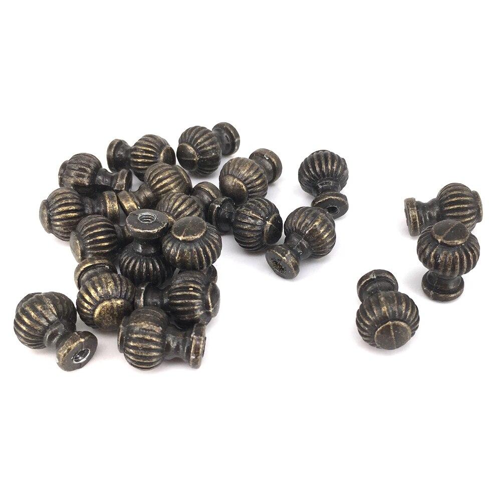 vintage bronze 14mm * 19mm mini runde laterne schrank knöpfe kommode