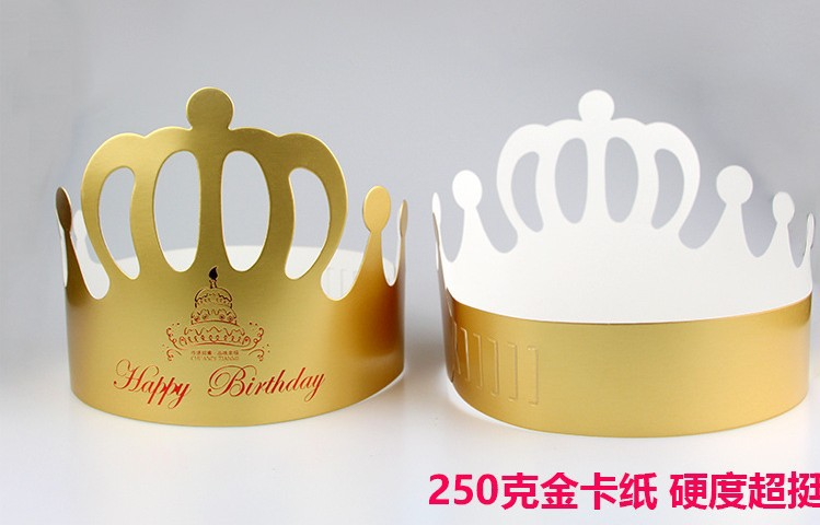 6pcs Gold Princess Crown Design Brithday Cake Cap Paper Vine Lace Cup Cake Wrappers Party Birthday Decoration