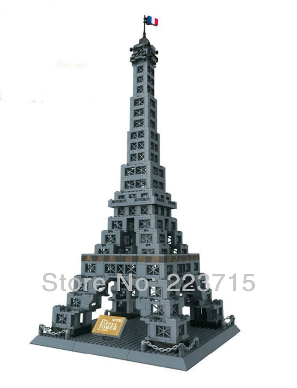 Free Shipping!*The Eiffel Tower* DIY enlighten block bricks,Compatible With other Assembles Particles free shipping happy farm set 1 diy enlighten block bricks compatible with other assembles particles