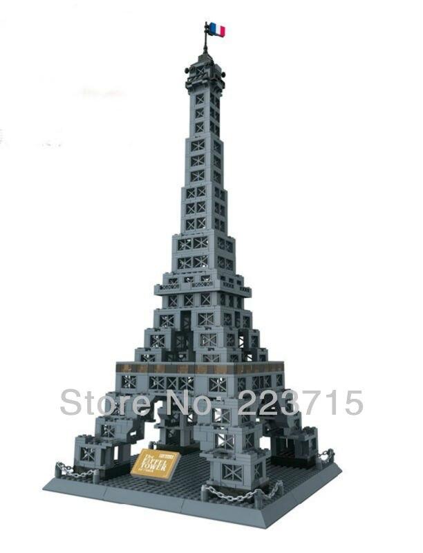 Livraison gratuite! * la tour Eiffel * bricolage éclairer les briques de bloc, Compatible avec d'autres assemblages de particules