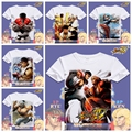 Creative Cool Street Fighter T Shirt Short  Sleeve Casual New Printed T Shirts O-Neck Game Tee Shirt For Men XD-013