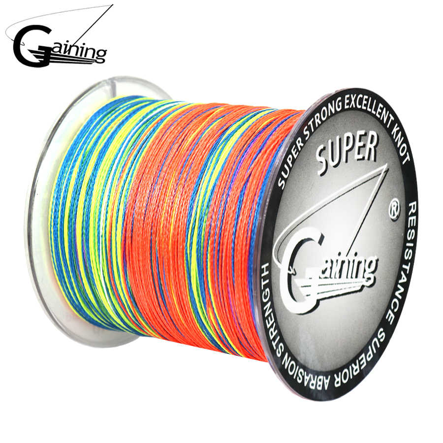 Gaining4 Strands Weaves Braided Fishing Line Multicolor Abrasion Resistant Braided Wire Incredible Superline Zero Stretch Thread