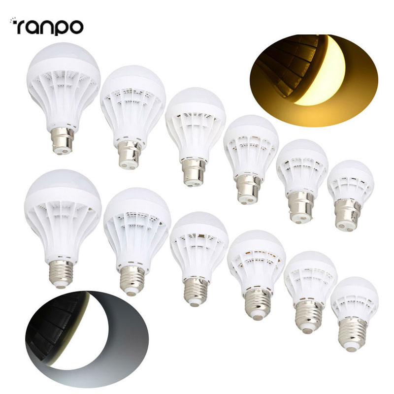E27 LED Energy Saving Bulb Globe Lights B22 Bayonet Lamp 3W 5W 7W 9W 12W 230V 240V Home Lighting Warm Cool White Lamps