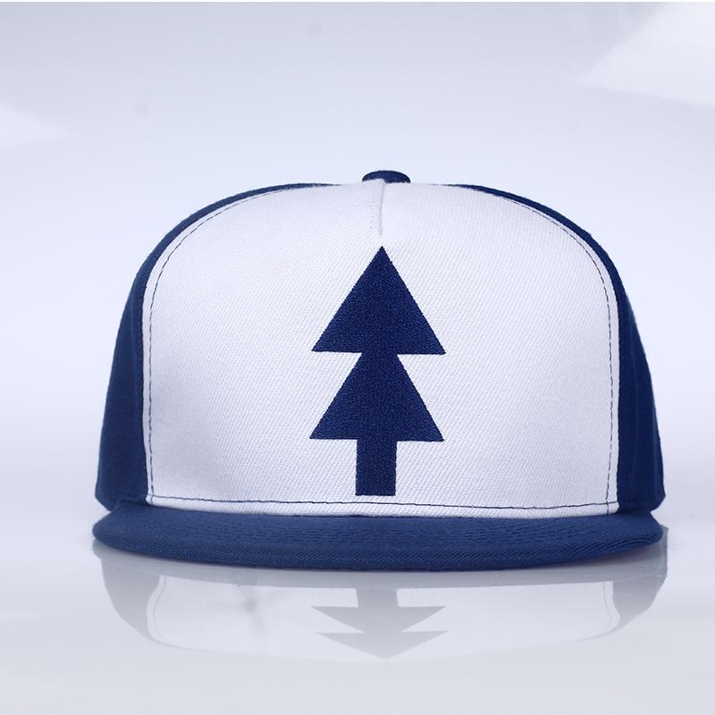 5b618951926 Cool Gravity Falls Baseball Cap BLUE PINE TREE Hat Cartoon Hip hop ...