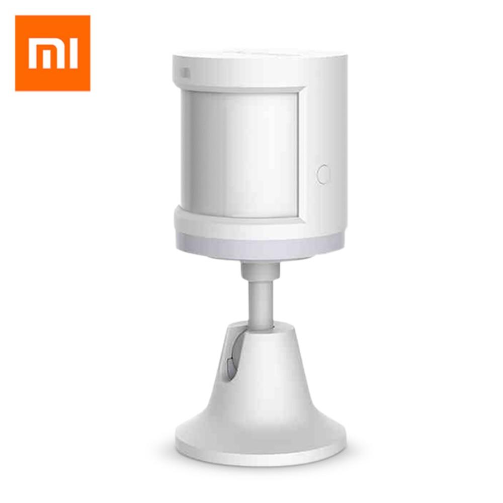 Original Xiaomi casa inteligente Aqara del Sensor de cuerpo humano Dispositivo de seguridad inteligente de visión nocturna inalámbrica ZigBee conexión