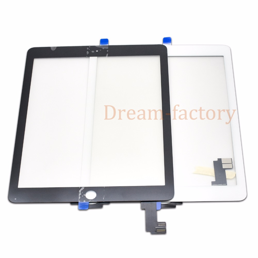 20pcs For iPad Air 2 2nd Generation A1567 A1566 Touch Screen Digitizer Glass Lens Tablet Panel
