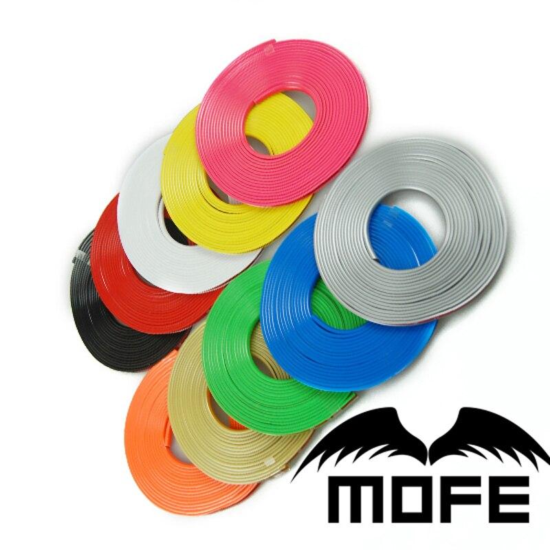 Mofe voiture 5 pcs/lot 8 m/Roll voiture jante roue moyeu autocollant protecteur universel bâches de voiture Auto accessoires décor style pneu autocollant