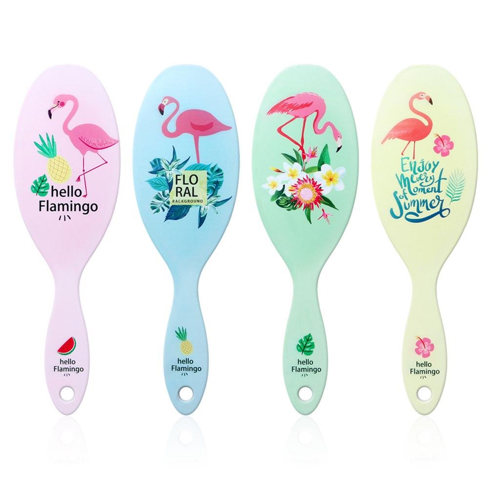 1pc Flamingo Print Hair Brush Anti-Static Scalp Massage Comb Salon Styling Tool Hot Sell Cute