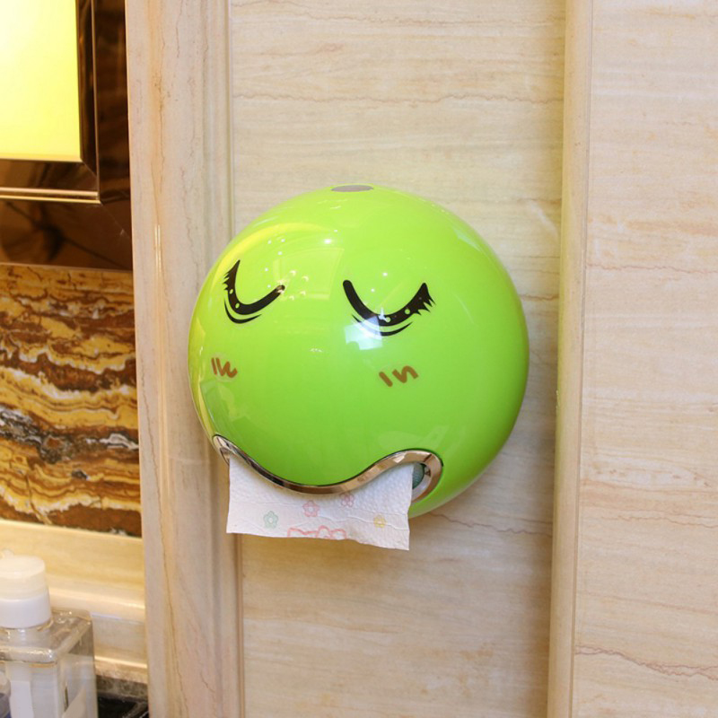 2018 Creative Face Emoji Facial Expression Tissue Storage Boxes Bathroom Toilet canister Waterproof Paper Box Holder