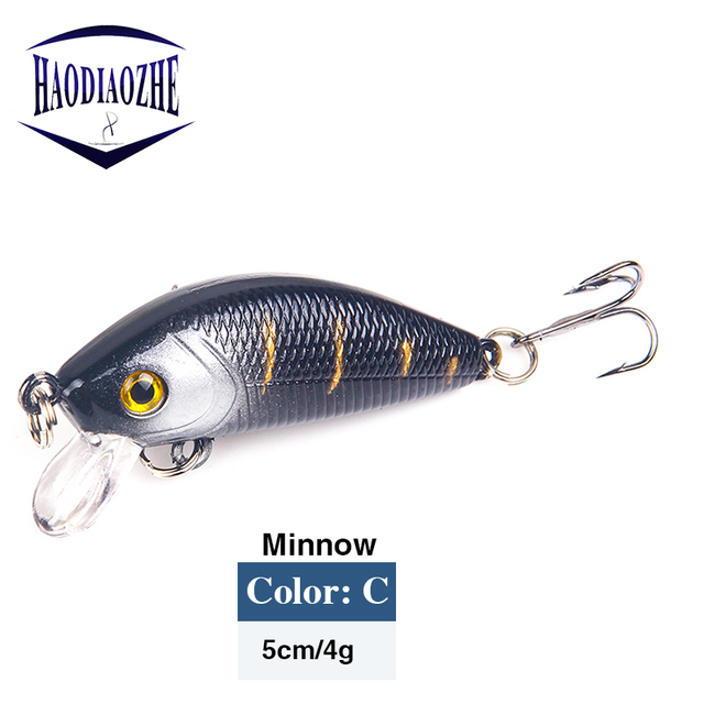 Minnow Fishing Lures 5cm 4g Floating Isca Artificial Japan Hard Bait Bass Topwater Pesca Wobblers Crankbait Carp Fishing Tackle 3