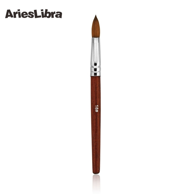 AriesLibra 1PC 18# 100% Kolinsky Acrylic Nail Brush Acrylic Nail Art ...
